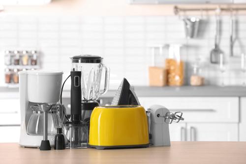 Toaster, kettle, blender