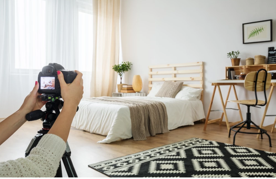 Getting the best angle when photographing a room is crucial.