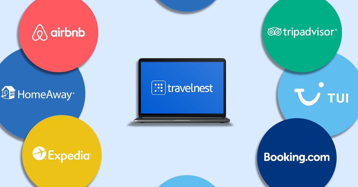 TravelNest gets your property listed on 30+ global booking sites like Airbnb, Booking.com, Expedia, TripAdvisor, TUI and many more.