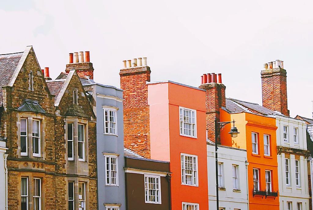 Coloured buildings skyline