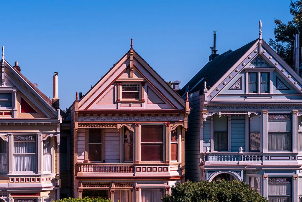 Coloured houses in San Francisco